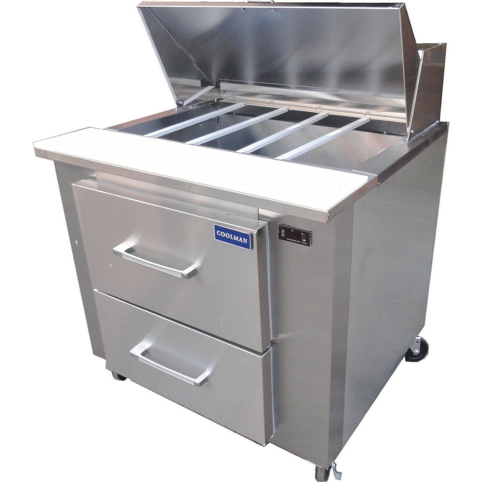 Commercial Refrigerated Sandwich Prep Table With Two Drawers - Commercial sandwich prep table