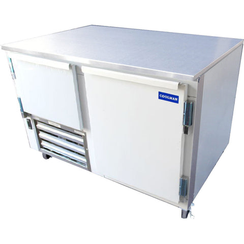 "Coolman 48"" Commercial 1 1/2-Door Low Boy Worktop Freezer - Coolman Refrigeration Inc."