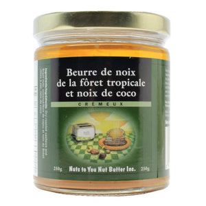 BEURRE 250G NOIX FORET/COCO