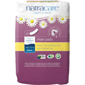 NIGH TIME PADS 10 NATRACARE
