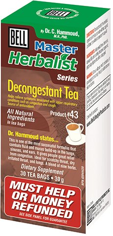 DECONGESTANT TEA 30SAC BELL