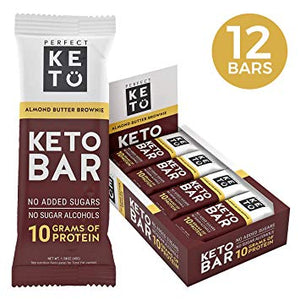PERFECT KETO BOX * 12 BARS ALMOND BUTTER BROWNIE
