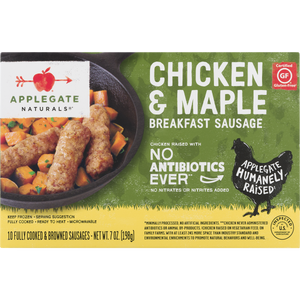 SAUSAGE 198G CHICKEN&MAPLE APPLEGATE