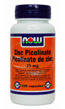 ZINC PICOLINATE 25MG 100C NOW