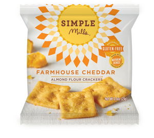 ALMOND FLOUR CRACKERS 23G SINGLE PACKET FARMHOUSE CHEDDAR
