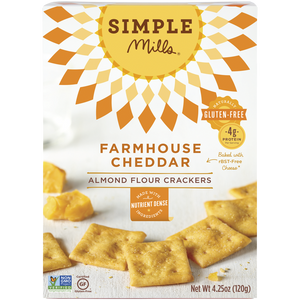 ALMOND FLOUR CRACKERS 120G FARMHOUSE CHEDDAR