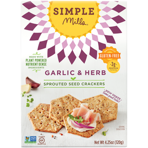 SPROUTED SEED CRACKERS 120G GARLIC