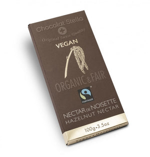 BAR DARK CHOCOLATE VEGAN 100G HAZELNUT