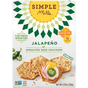 SPROUTED SEED CRACKERS 120G JALAPENO