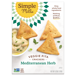 CRACKERS PITA 120G MEDITERRANEAN HERBAL