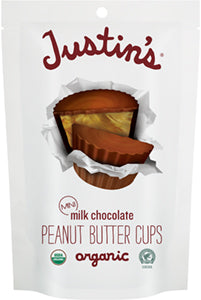 MINI MILK CHOCOLATE PEANUT BUTTER CUPS 133G ORGANIC