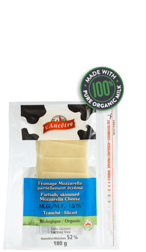 FROMAGE MOZZARELLA 180G TRANCHES SLICES