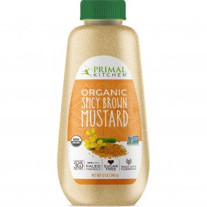 SPICY BROWN MUSTARD ORGANIC 340g