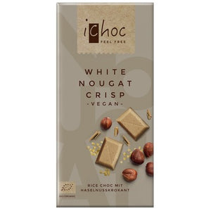 BAR CHOCOLATE 80G WHITE NOUGAT CRISP