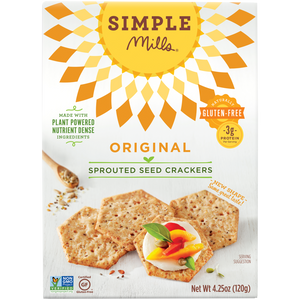 SPROUTED SEED CRACKERS 120G ORIGINAL