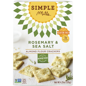 ALMOND FLOUR CRACKERS 120G ROSEMARY & SEA SALT