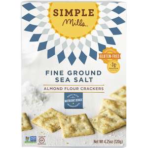 ALMOND FLOUR CRACKERS 120G FINE GROUND SEA SALT