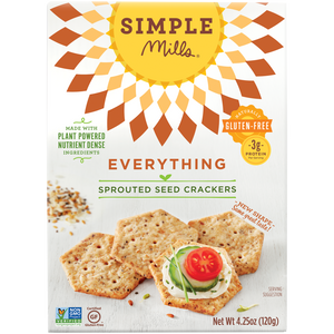 SPROUTED SEED CRACKERS 120G EVERYTHING