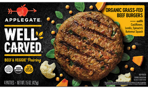 BURGER GRASS FED 425G APPLEGATE