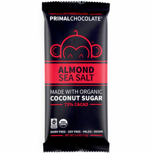 BAR EVOLVED 71G ALMOND SEA SALT 72%