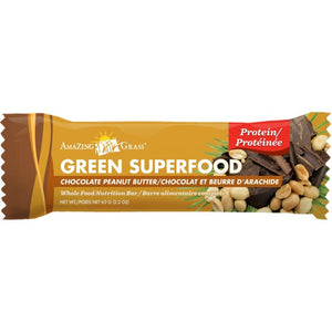 BAR GREEN 60G CHOC.PEANUT BU