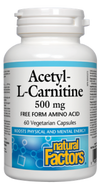ACETYL-CARNITINE 500MG 60CA