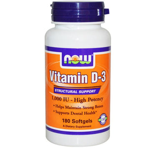 D3-VIT 1000U 180CAP NOW