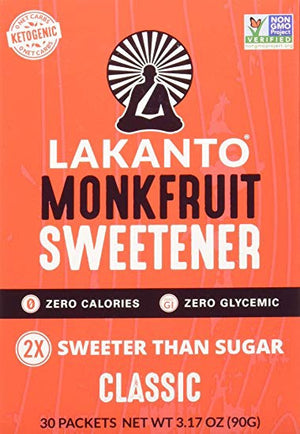 MONKFRUIT SWEETENER 30 PACKETS (90G)
