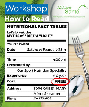 "Workshop ""How to read nutrition fact tables"""