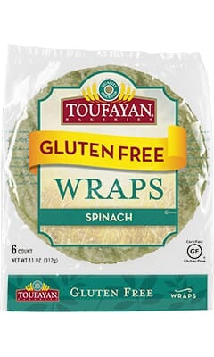 WRAP 6CT SG TOUFAYAN SPINACH