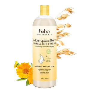 MOISTURIZING BABY BUBBLE BATH & WASH 450ML OATMILK CALENDULA