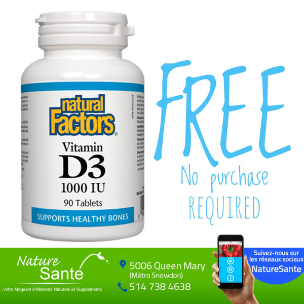 Vitamin D 60 caps FREE (not available in store, only ONLINE)