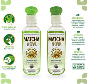 MATCHA NOW 355ml GREEN TEA (lightly sweeted)