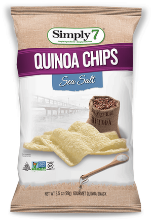 CHIPS GOURMET SIMPLY7 99G QUINOA SEA SALT