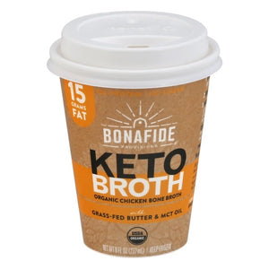 BONE BROTH KETO 237ML CHICKEN + MCT
