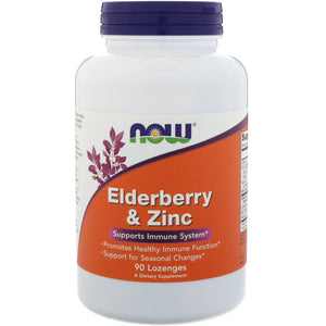 ELDERBERRY & ZINC 90 LOZENGES NOW