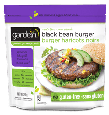 BURGER BEAN BLACK 340G GARDEIN chipotle