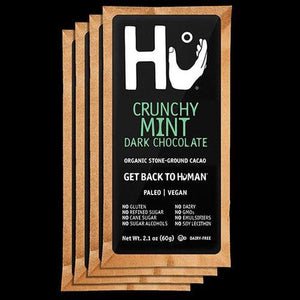 Dark Chocolate Bar Crunchy Mint ORGANIC 2.1 oz. (60g)