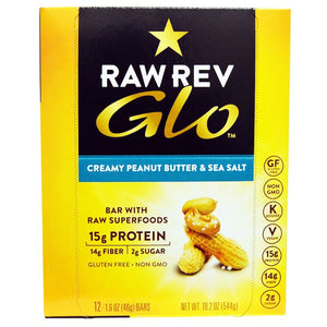 CREAMY PEANUT BUTTER & SEA SALT GLO BAR