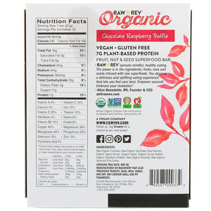 CHOCOLATE RASPBERRY TRUFFLE ORGANIC BAR