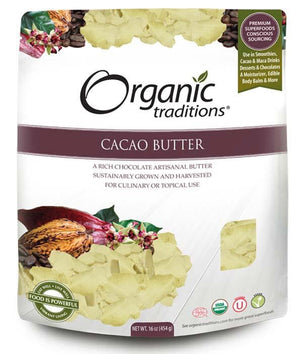 CACAO BUTTER 227G ORGANIC TRADITIONS