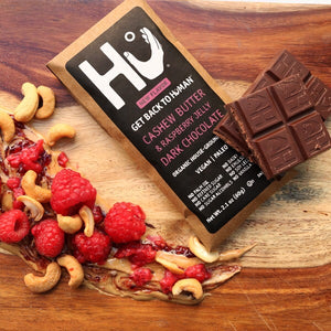 Dark Chocolate Bar  Cashew Butter + Raspberry Jelly 2.1 oz. (60g)