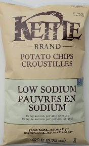 CHIPS 220G LOW SODIUM KETTLE