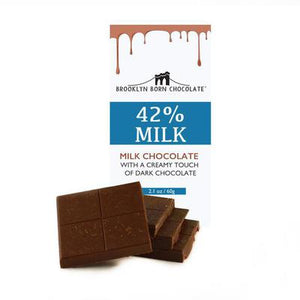 BAR BROOKLYN 60G 42% MILK CHOCOLATE BNY