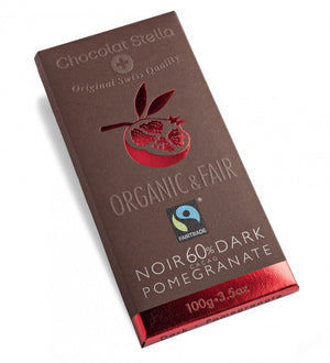 BAR CHOCOLATE  80G 60% POMEGRANATE STELLA