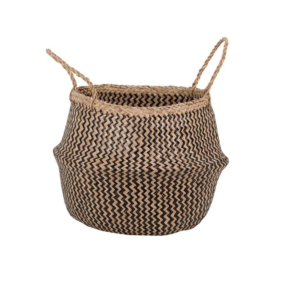 Zigzag Seagrass Belly Basket