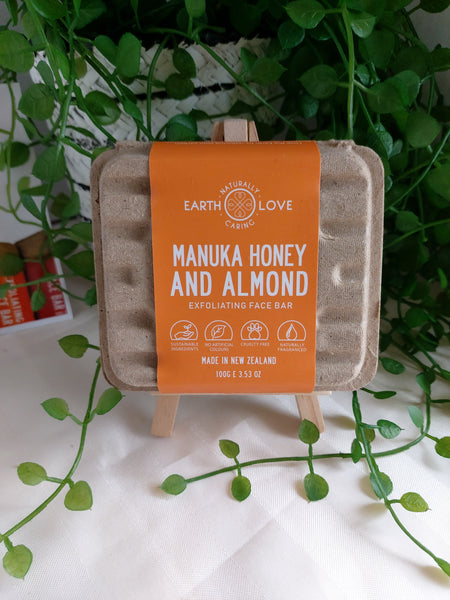 Manuka Honey and Almond Exfoliating Face Bar by Earth Love