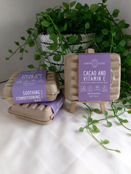 Cacao and Vitamin E ~ Hair Conditioning Bar by Earth Love