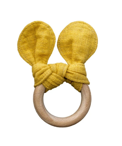 Mustard the Bear Teether by Lily and George