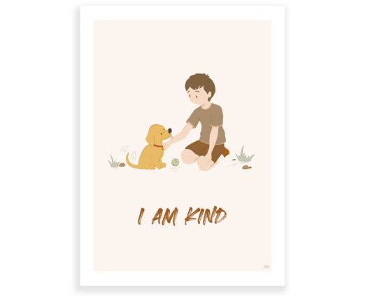 I am Kind - Wall Print by Lagom Design Studio